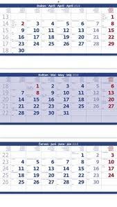 Kalendář 2018 Svátky Nástěnný Kalendář 2018 Tříměsíční Skládaný Modrý Aaapapir Cz