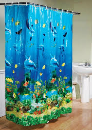 com dolphin bay under the sea shower curtain blue home kitchen