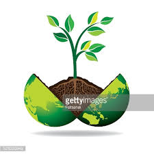 green tree and globe vector getty images