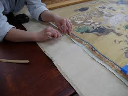 mfa boston publicly conserves 18th century buddhist painting