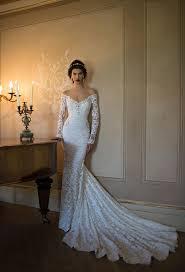 the shoulder v neck crystal detailling lace mermaid wedding dress