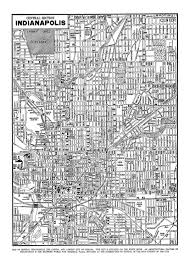 Map Indianapolis Indianapolis Street Map Vintage Print Poster