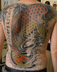 japanese back tattoo japanese koi fish tattoo on back body photos pictures and
