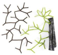 modern coat hooks in the shape of tree branches home interior