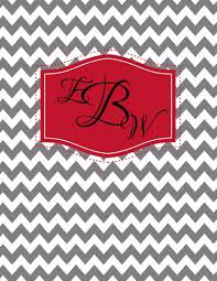 create your own planner template free monogram binder cover grey chevron