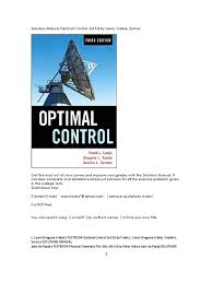 solutions manual optimal control 3rd ed by lewis vrabie syrmos