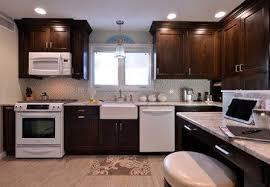 diy espresso kitchen cabinets roosevelt kitchen new york by solara designs inc