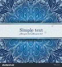Text For Invitation Card Blue Invitation Card Place Your Text Stock Vector 158404400