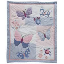 bedtime originals butterfly meadow collection 3 piece crib bedding