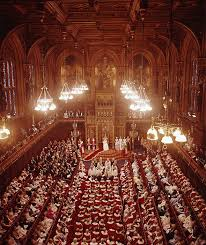 Queen Elizabeth Ii House Queen Elizabeth Ii In The House Of Lords London During The State
