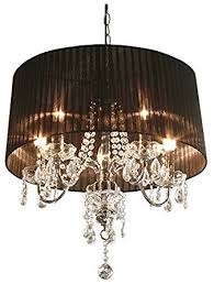 Chandelier Shade Beaumont 5 Light Chandelier Shade Colour Black Amazon Co Uk