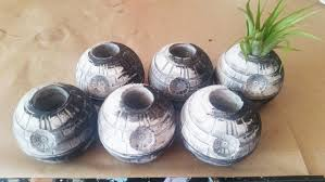 star wars inspired death star planter air plant holder geek