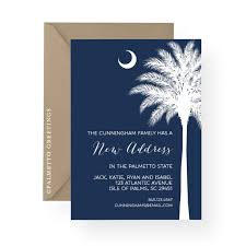 palm tree wedding invitations palm tree silhouette south carolina moving announcement new