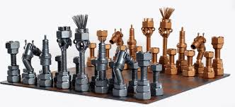 unique recycled auto part chess set u0027recycling challenge u0027 chess
