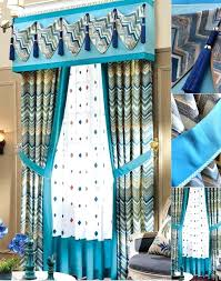 Blue Ticking Curtains Blue Valance Curtains Teawing Co