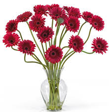 amazon com nearly natural 1086 or gerber daisy liquid illusion