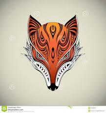 tribal fox stock vector illustration of brush artistic 35939030