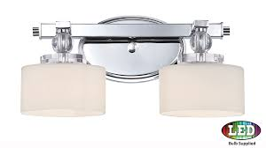 furniture graceful chase 2 light vanity chrome transitional