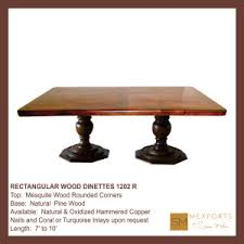 Hammered Copper Dining Table Rectangular Dining Table Vintage Imperial Red Wood Base Oxidized
