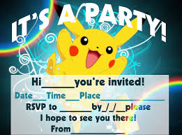 pokemon birthday invitation templates free cleaning ideas