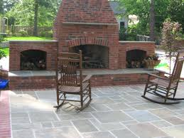 patio ideas covered patio with fireplace plans outside brick