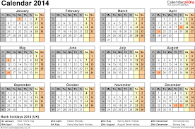 printable agenda calendar 2014 calendar 2014 uk with bank holidays excel pdf word templates