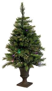 pre lit battery operated potted tree clear led