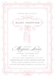 ballerina baby shower invitations baby shower invitations green bean paper company