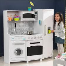 grande cuisine enfant kidkraft grande cuisine enfant blanche avec sons et lumières 53369