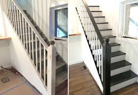 black staircase facci designs how to paint a staircase black white before and