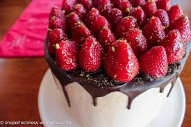 vanilla spice celebration cake with strawberries chocolate