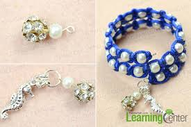 make beaded bracelet wire images How to make white pearl beaded macrame bracelets with memory wire jpg