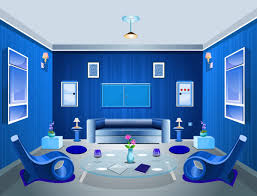 Amazing Of Latest Architecture Blue Living Room Paint Col - Blue living room color schemes