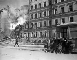 siege air photo leningrad after a german air raid russia 1 jan 1942