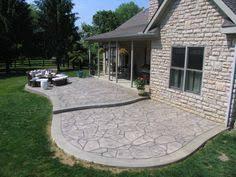 Backyard Stamped Concrete Patio Ideas Stamped Concrete Patios Driveways U0026 Walkways Columbus Ohio