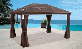 Outdoor Gazebo With Curtains by Garden U0026 Outdoor Hardtop Gazebo Hardtop Gazebo 10x10 Lowes