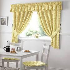 rideau cuisine rideaux et cantonnières jaune pour la cuisine ebay