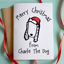 merry christmas from the dog card by cows u0026 kisses