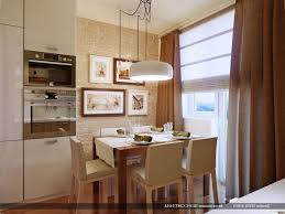 eat in kitchen lighting ideas dark brown upholstered seatings l