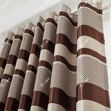 striped curtains in brown color blackout