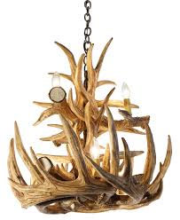decor redoubtable deer horn chandelier with alluring antler