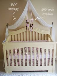 White Curtains Nursery by Leahs Nursery Diy Canopy 2 White Curtains From Target Sewn