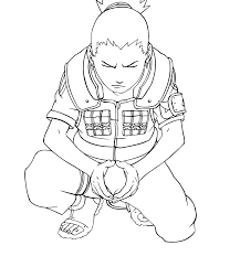 naruto 187 shikamaru lineart by rollando35 on deviantart