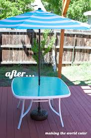 Glass Patio Table With Umbrella Hole How To Make A Perfect Glass Patio Table Makeover Patio Table