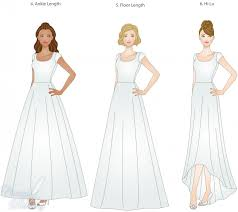 skirt lengths choices for lds weddings lds wedding planner