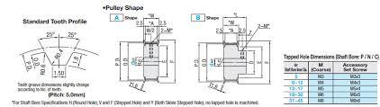 Pulley Floor L Timing Pulleys T5 Type Misumi Misumi Usa