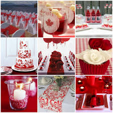 classic weddings and events red and white canada day wedding ideas