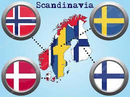Scandinavia Map Scandinavia Map Flag Button U2014 Stock Vector Savi88 53130719