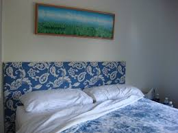 Custom Made Fabric Headboards by Bedroom Design Unique Blue And White Floral Homemade Headboard