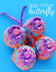 Butterfly Crafts For Kids To Make - colorful egg carton butterfly craft for kids crafty morning